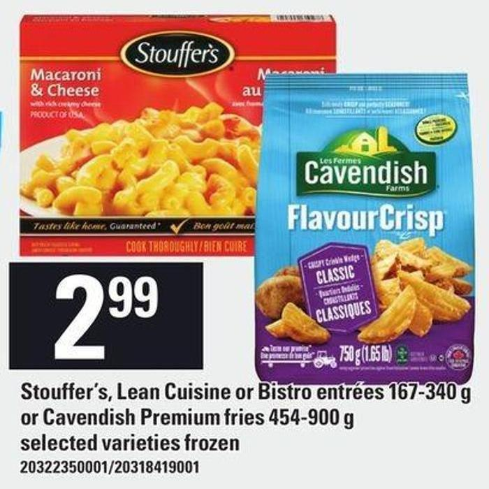 Stouffer's - Lean Cuisine Or Bistro Entrées - 167-340 G Or Cavendish Premium Fries - 454-900 G