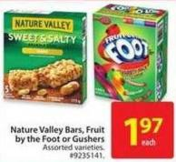 Nature Valley Bars - Fruit By The Foot or Gushers