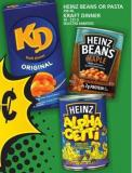 Heinz Beans Or Pasta Or Kraft Dinner