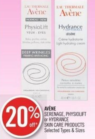 Avène Serenage - Physiolift or Hydrance Skin Care Products