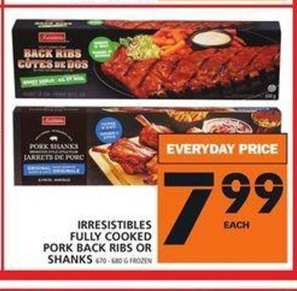 Irresistibles Fully Cooked Pork Back Ribs Or Shanks