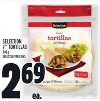 Selection 7in Tortillas