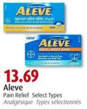 Aleve Pain Relief Select Types