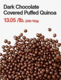 Dark Chocolate Covered Puffed Quinoa