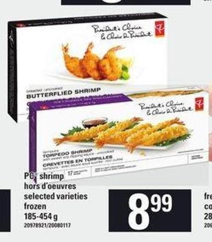 PC Shrimp Hors D'oeuvres.185-454 g