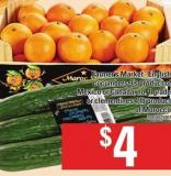 Farmer's Market English Cucumbers - 3's Or Clementines - 4 Lb