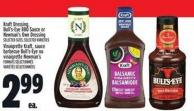 Kraft Dressing - Bull's-eye Bbq Sauce Or Newman's Own Dressing