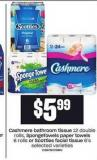 Cashmere Bathroom Tissue - 12 Double Rolls - Spongetowels Paper Towels - 6 Rolls Or Scotties Facial Tissue - 6's