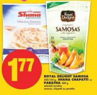 Royal Delight Samosa - 500/550 g - Shana Chapatti Or Paratha - 400 g