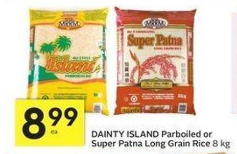 Dainty Island Parboiled or Super Patna Long Grain Rice