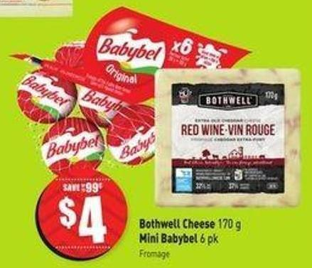 Bothwell Cheese 170 g Mini Babybel 6 Pk