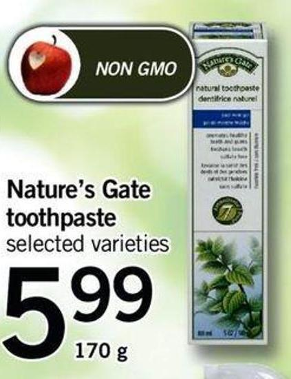 Nature's Gate Toothpaste - 170 g