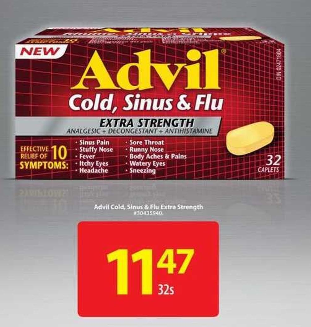 Advil Cold - Sinus & Flu Extra Strength