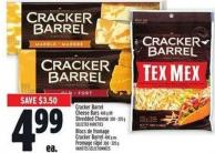 Cracker Barrel Cheese Bars - 400 G Or Shredded Cheese - 300/320 G