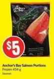 Anchor's Bay Salmon Portions Frozen 454 g