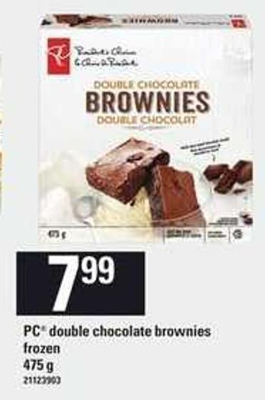 PC Double Chocolate Brownies - 475 g