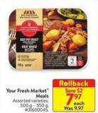 Your Fresh Market Meals