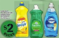 Sunlight - Palmolive Or Dawn Dish Detergent