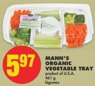 Mann's Organic Vegetable Tray - 461 G
