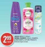 Aussie Miracle (360ml) - Herbal Essences (346ml) Shampoo - Conditioner or Styling Products