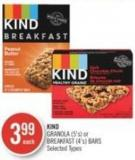 Kind Granola (5's) or Breakfast (4's) Bars
