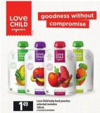 Love Child Baby Food Pouches - 128 Ml