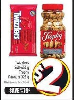 Twizzlers 340-454 g Trophy Peanuts 325 g