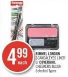 Rimmel London Scandaleyes Liner or Covergirl Cheekers Blush
