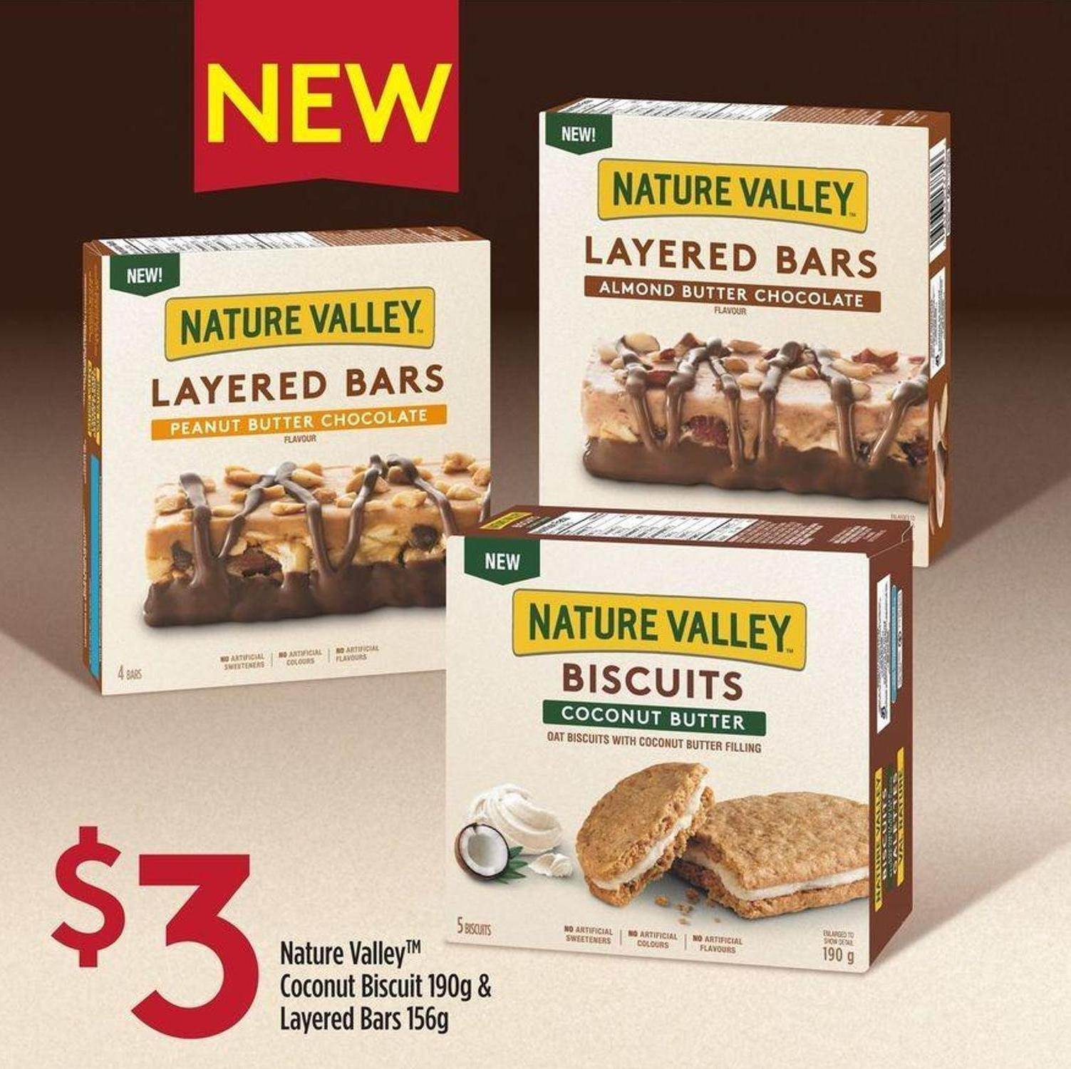 Nature Valley Coconut Biscuit 190g & Layered Bars 156g