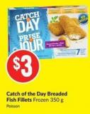 Catch of The Day Breaded Fish Fillets Frozen 350 g