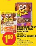 Dare Bear Paw Cookies And Crackers 156-270 g or Wagon Wheels 315 g