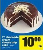 7in Chocolate Cream Cheese Drip Cake - 750 G