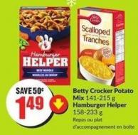 Betty Crocker Potato Mix 141-215 g Hamburger Helper 158-233 g