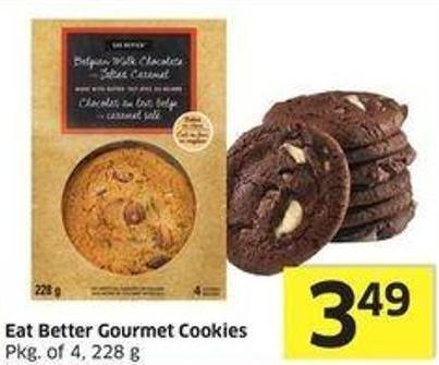Eat Better Gourmet Cookies Pkg of 4 - 228 g