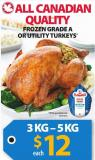 Frozen Grade A Or Utility Turkey's
