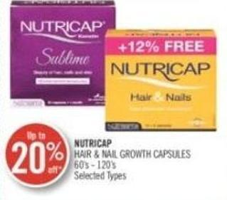 Nutricap Hair & Nail Growth Capsules 60's - 120's