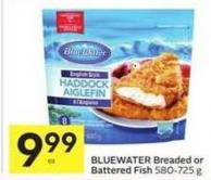 Bluewater Breaded or Battered Fish