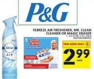 Febreze Air Freshener - Mr. Clean Cleaner Or Magic Eraser