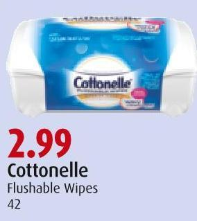 Cottonelle Flushable Wipes 42