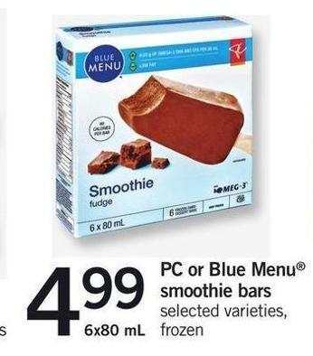 PC Or Blue Menu Smoothie Bars - 6x80 Ml