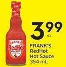 Frank's Redhot Hot Sauce