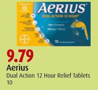 Aerius  Dual Action 12 Hour Relief Tablets 10