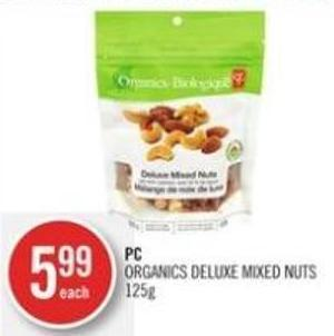 PC Organics Deluxe Mixed Nuts 125g