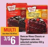 Duncan Hines Classic Or Signature Cake Mix - 432 g