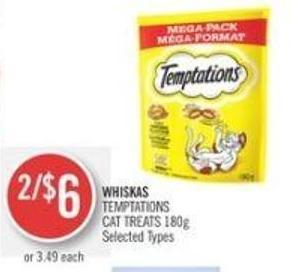 Whiskas Temptations Cat Treats 180g