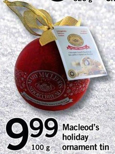 Macleod's Holiday Ornament Tin - 100 G