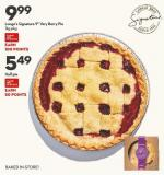 Longo's Signature 9in Very Berry Pie  1kg Pkg