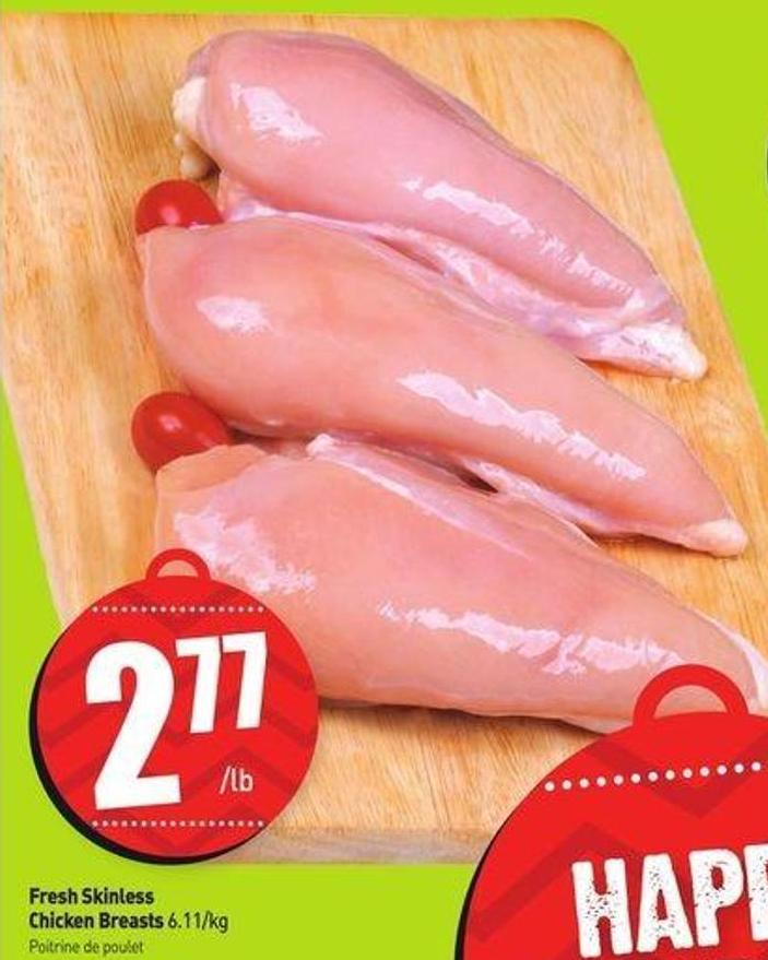 Fresh Skinless Chicken Breasts 6.11/kg