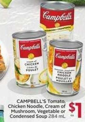 Campbell's Tomato - Chicken Noodle - Cream of Mushroom - Vegetable or Condensed Soup