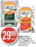 Align Probiotic Chewable Tablets (24's) - Gummies (50's) or Capsules (21's - 28's)